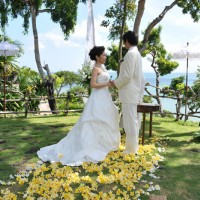 バリ島・インドネシア/バリ島/フォーシーズンズバリ・ジンバランベイ・ガーデンウェディング