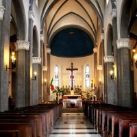 イタリア/フィレンツェ郊外/サン・シジスモンド教会