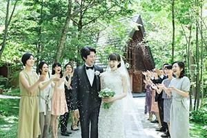 軽井沢の歴史ある教会で祝福のウエディング<br>