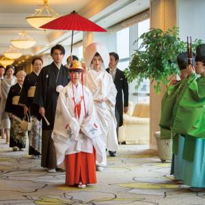 神殿までは美しい音色の中参進の儀を行います。 ホテルアソシア豊橋の写真(2005194)