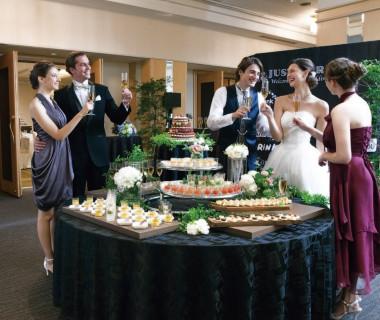 上質な料理で迎えるプレパーティはもてなし上手な大人花嫁のウエディングSTYLE。贅沢に貸切が可能なパーティフロア♪プライベート感と自由度も抜群!