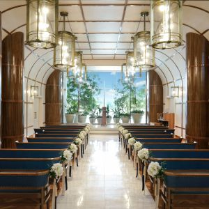 豪華客船をイメージした光溢れるチャペル|ヨコハマ グランド インターコンチネンタル ホテルの写真(3737017)