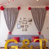 ガーデンテラスにていろいろなコーディネート致します! ソファーなどでアレンジも可能ですよ!