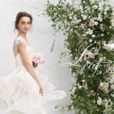 新作ドレス【Leaf for Brides】 一歩足を踏み出すたびになめらかでとろみのあるシフォンジョーゼットのスカートが優しく優雅なシルエット