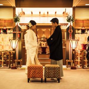 厳粛な雰囲気の中執り行われる「神前式」|KKRホテル熊本の写真(3275685)