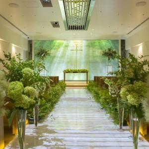 映像を変えて森の教会風に。|KKRホテル熊本の写真(1654958)