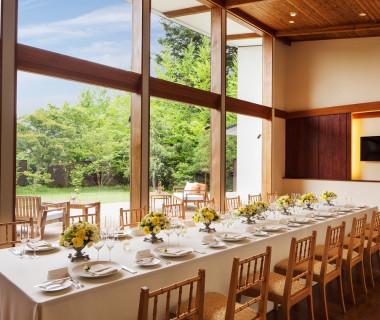 【湯川ガーデンテラス】ゲストと特別な時を過ごす、貸切りガーデンレストラン(10名~40名前後)