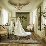 ブライズルームもゆったりと、贅沢な気分を味わえる空間。
