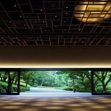 月光をテーマにした独創的な会場【エール】特徴である庭園を望む開放的な雰囲気はそのままに、日本の四季を感じながら贅沢でゆったりとした時間をお届けします。