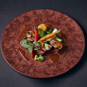 ◆料理長が実演!【国産牛&素材引き立つ自然栽培デザート試食】
