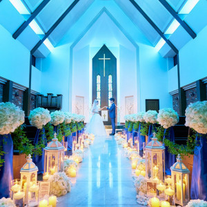 【花嫁の憧れ!】幸せのブルーに包まれる 感動挙式体験フェア