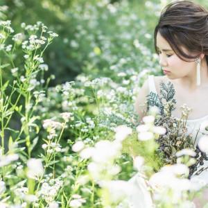 季節ごとに違った顔を見せてくれる草花も前撮りの醍醐味 ロイヤルオークホテル スパ&ガーデンズの写真(2844009)