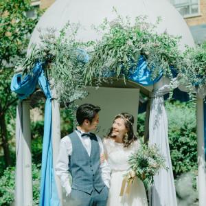 ガーデンにある白のドームは人気のフォトスポット! ロイヤルオークホテル スパ&ガーデンズの写真(6971837)