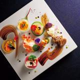 滋賀県産を中心に約28種の野菜が彩るオードブル!海の幸との鮮やかなコラボレーション!