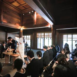 本殿のご参列90名まで可能なので友人のご参列も可能。 報徳二宮神社 報徳会館の写真(6060031)