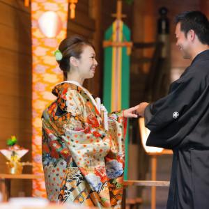 『指輪交換』 報徳二宮神社 報徳会館の写真(4857615)