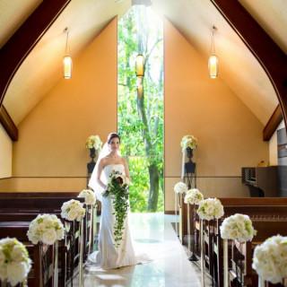 【大人花嫁に人気】庭に佇むストーリージェニックなチャペル見学