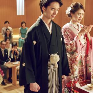 *清明殿~月の神殿* 月のようにやわらかく満ちた温かな光の中で心に残る挙式が叶えられます。 成田ビューホテルの写真(2701886)