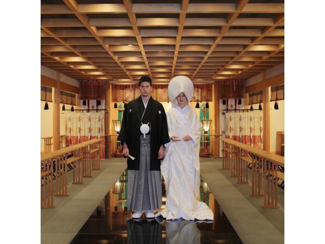 静岡でも数少ない本格的な神殿挙式と和婚が叶う