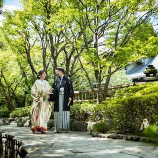 【和モダンW】8,000坪の日本庭園×本格神前×豊富な和装×食事券1万