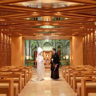 【和婚×美食】ほのかな檜の薫り漂う〈出雲殿〉和モダンウエディング