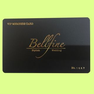 ベルファイン にて挙式披露宴をされたお二人にベルファイン 特別会員カードプレゼント