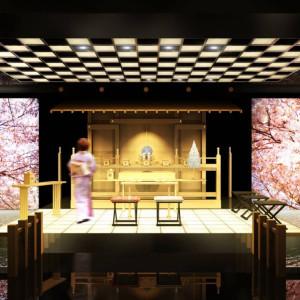 スタイリッシュな雰囲気の中での本格神前挙式。大画面スクリーンに映像を出すことも可能! 八王子ホテルニューグランド(グランドビクトリア八王子)の写真(262806)