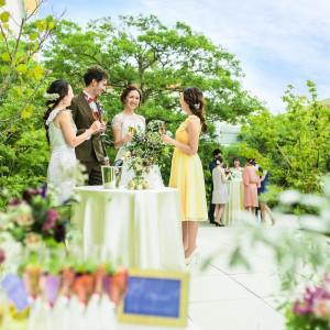 大切な人たちと過ごす 開放感あふれる緑のガーデン|ヒルトン福岡シーホークの写真(3938763)