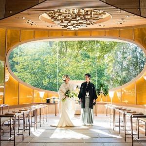 #庭園内神殿 杜乃宮 #新郎新婦 #和装 ホテル椿山荘東京の写真(2581584)
