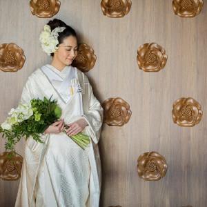 #白無垢 #花嫁 #庭園内神殿 杜乃宮 ホテル椿山荘東京の写真(2581587)