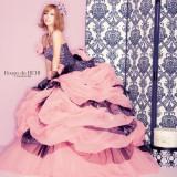 BENIの新作が登場! ピンクのチュールでかわいらしさを残しつつ、黒で引き締まった大人かわいいドレスです♪