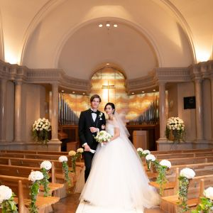 ふたりの誓いをかわす場は正統派のルネサンス様式のチャペルで|ウェスティンホテル東京の写真(4863481)
