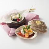 彩り豊かな和食の前菜7種盛。見た目からゲストの方を楽しませてくれます。