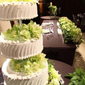 ケーキもコーディネートの一部に。|名古屋観光ホテルの写真(351364)