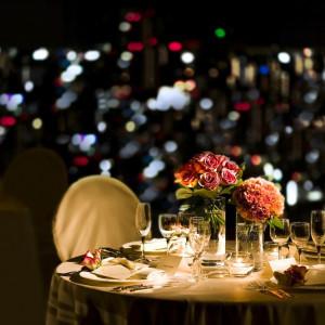 夜景にぴったりのロマンチックなコーディネート。 名古屋観光ホテルの写真(338400)