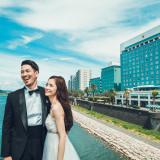 大淀川沿いに立地するホテルは、前撮りのスポットとしても最適です。