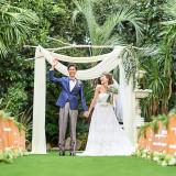 【ガーデン挙式】挙式の前後で撮影も出来る♪前撮りも可能なので、想い通りのシーンを形に