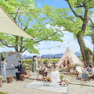 【海と緑★リゾートフェア】試食×森の邸宅×グランピング体験