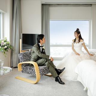 【三ツ星ホテルのおもてなしを堪能!】新郎新婦の結婚式当日のご宿泊をプレゼント!