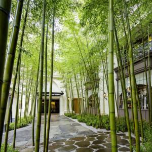日本らしい情景が広がるエントランスは 着いた瞬間からゲストを非日常に誘う。|横浜迎賓館の写真(873858)
