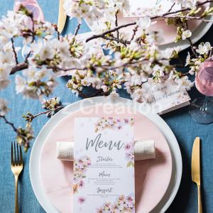 春の季節感溢れるテーブルコーディネート♪