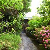 日本庭園を思わせるようなロケーションにゲストの心も癒される