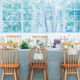 #テーブルデコレーション #晩餐スタイル #アットホーム #ナチュラル #窓一面にグリーン