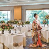 約200坪の日本庭園を望む人気の宴会場「吉野の間」