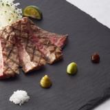 国産牛ロース肉のお刺身風ステーキ