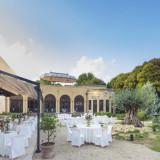 1000坪にも及ぶ敷地内の広々としたガーデン。樹齢500年のオリーブの樹を中心としたお庭での挙式&披露宴は小笠原伯爵邸ウェディングの魅力。