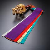 鈴鉾(すずほこ) 神楽舞のお道具。雅楽の調べと優雅な舞がおめでたい席を盛り上げます