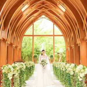 [15大特典×2万円試食]緑溢れるチャペル&ガーデン体験×貸切邸宅