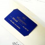 結婚式を挙げたカップルに贈られる『メモワール・ド・ひらまつ』カード。永久会員としてひらまつグループ国内全店で優待が。
