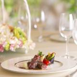 品質や焼き方にこだわった和牛のステーキは、ブライダルフェアの無料試食でも人気。
